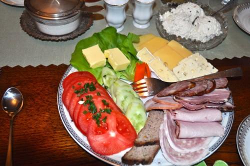 Dworek Wadera w Bieszczadach. Śniadania